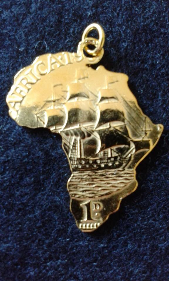 Sterling silver africa pendant galleon rounding the cape of good sterling silver africa pendant galleon rounding the cape of good hope includes an 18inch 45cm sterling silver diamond cut snake chain aloadofball Image collections